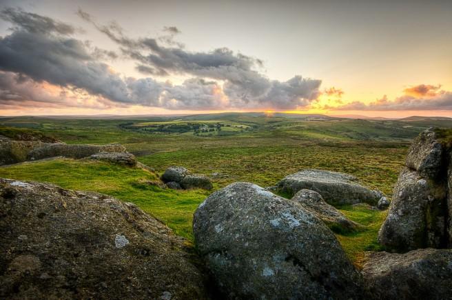 Simon Vogt, Dartmoor Sunset, taken at Haytor, Dartmoor