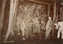 Miners in the Ombilin Coal Mine at Sawahloento, Sumatra's West Coast, 1920