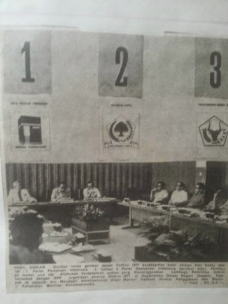 Three parties in the 1977 election