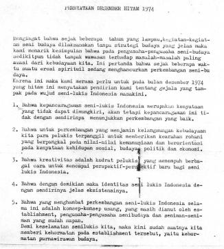 Black December Declaration 1974