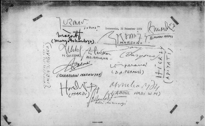 Black December Statement Signatories 31 December 1974