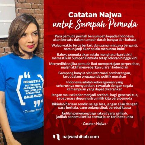 Catatan Najwa Untuk Sumpah Pemudah